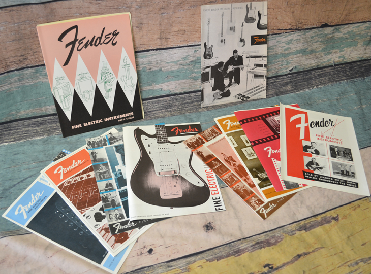 10 Fender Reproduction Catalogs, Various Years